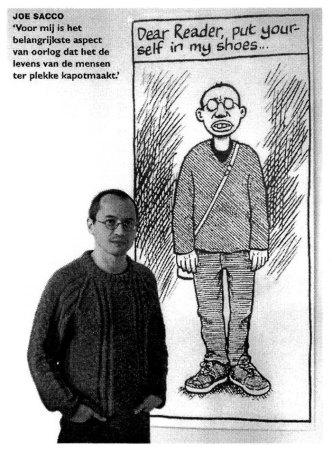 Portret Joe Sacco in Teylers Museum (Focus Knack)