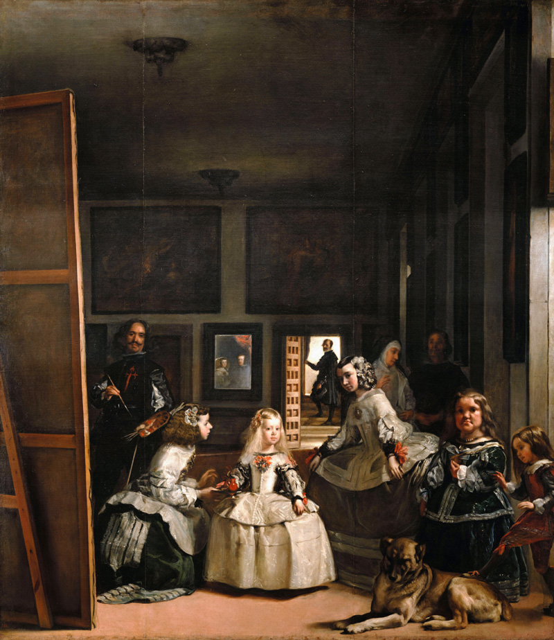 Diego Velázquez Achter het verdwijnpunt Las meninas
